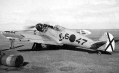 Ermuan eroritako Bf_109 hegazkin alemaniarra